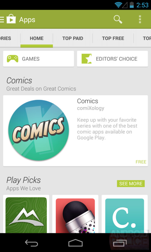 Alleged changes to the Google Play Store in Android 4.4