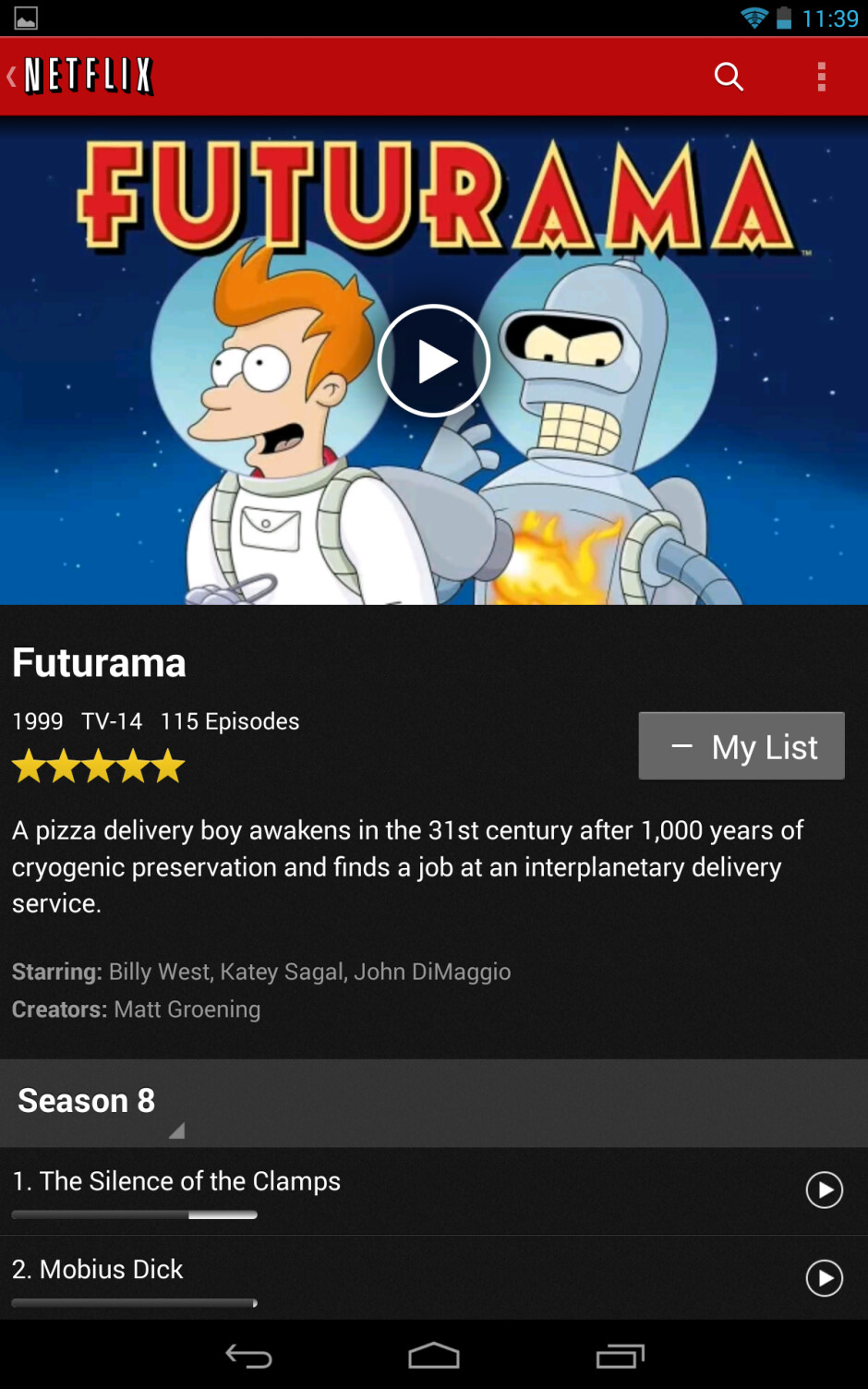 Screenshots of the updated Netflix app - Netflix for Android gets update to speed up navigation