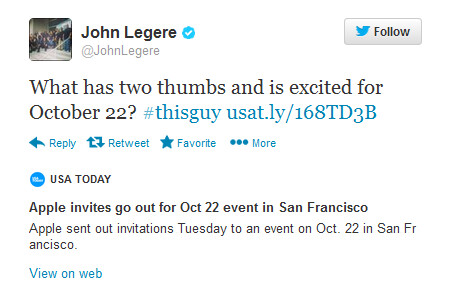 T-Mobile's CEO is excited about selling the Apple iPad - Tweet from Legere suggests Apple iPad will be sold by T-Mobile after unveiling