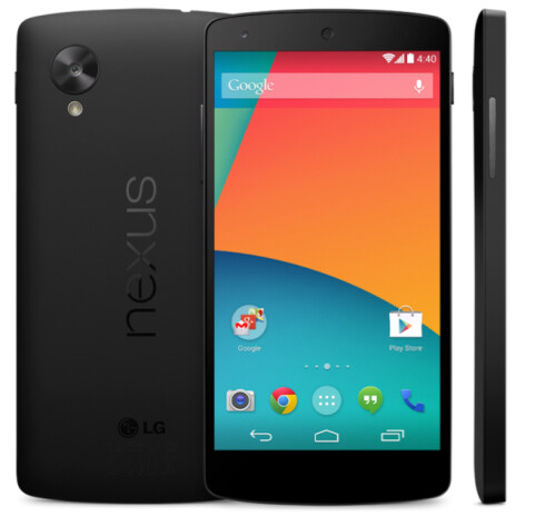 "Google ""accidentally"" revealed the Nexus 5 press image."