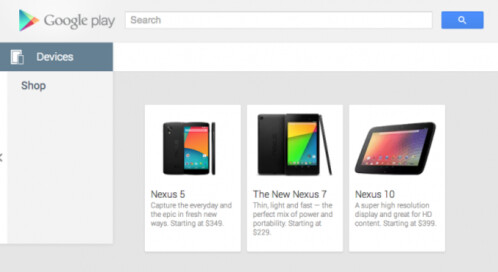 Nexus 5 briefly appears in Google Play for $349