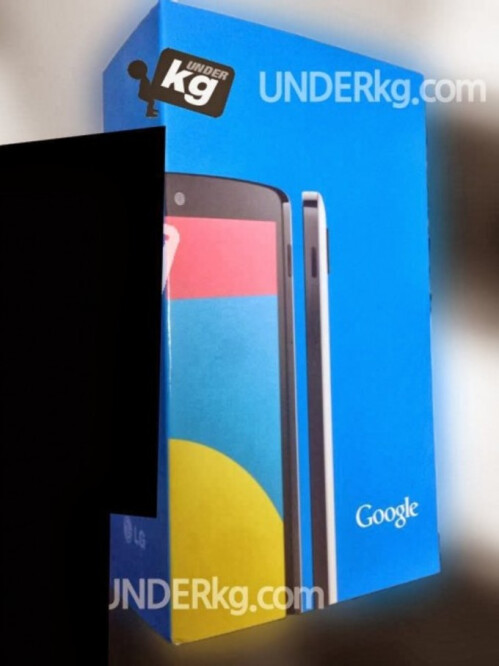 Nexus 5 box and white model appear in pics