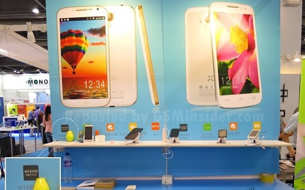 Display shows the first true octa-core smartphone, the UMI X2S, on the left with the predecessor UMI X2 on the right - First smartphone using MediaTek's true octa-core processor is announced