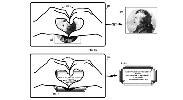 """Google patent may let you """"heart"""" things with Glass"""