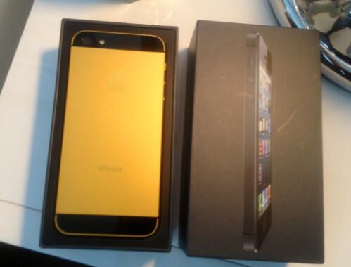 Kim Kardashian's gold Apple iPhone 5