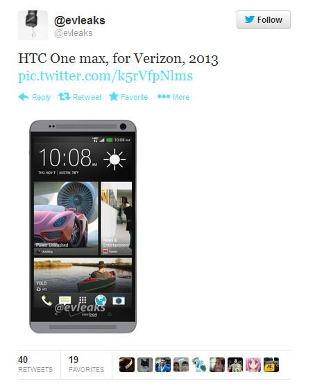 HTC One max for Verizon
