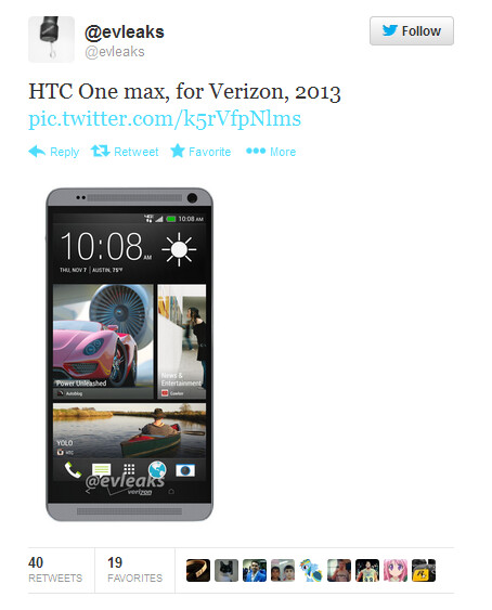 HTC One max for Verizon
