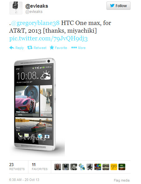 HTC One max for AT&T