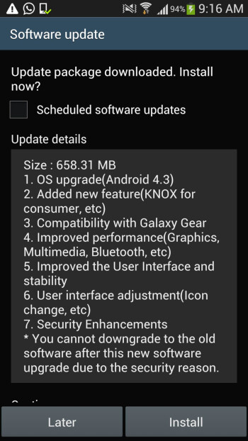Samsung Galaxy S4 Android 4.3 update starts rolling out officially, just as promised - Exynos version too