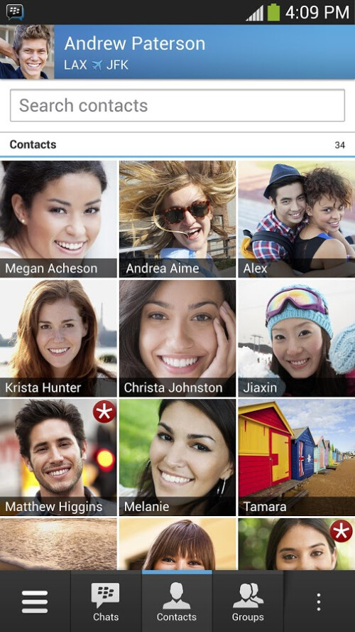 Screenshots from BBM for Android