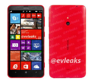 Render of the Nokia Lumia 1320, rumored to be heading to Verizon
