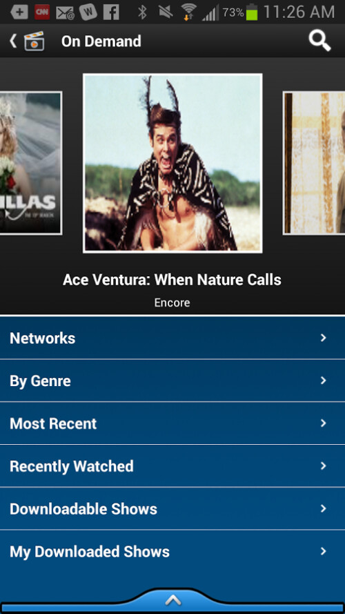 Certain Android models can now support live television from AT&T's U-verse
