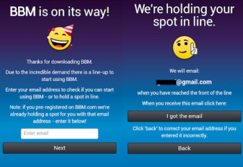 Simple method will have you using BBM for iOS or BBM for Android right away