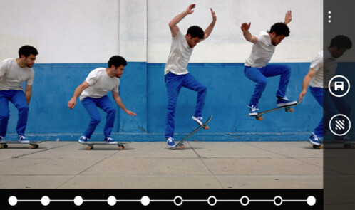 Capture an entire action sequence