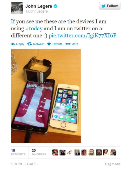 T-Mobile CEO John Legere gets to show off his personal devices
