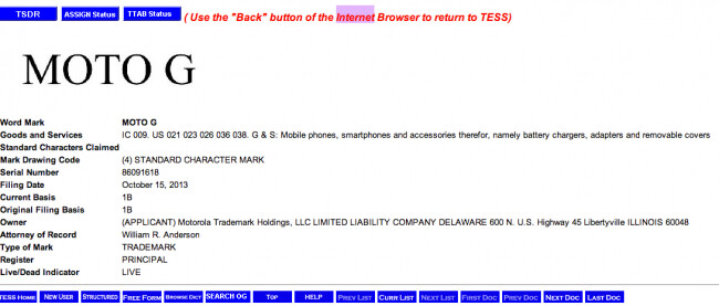 U.s. patent and trademark office's trademark electronic search system (tess)