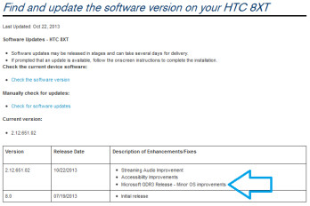 The HTC 8XT has started to receive the GDR3 update