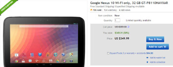 Nexus 10 32GB price slashed to $350 on eBay