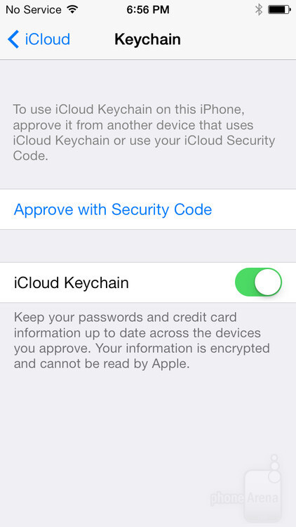 Setting up iCloud Keychain on a secondary device requires approval