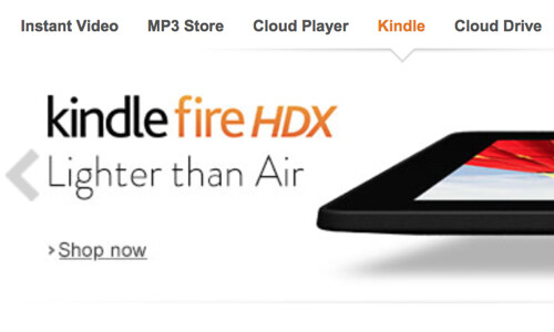 Amazon takes aim at the iPad Air with new Kindle Fire banner