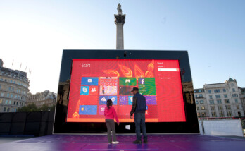 Gigantic 12-foot tall Microsoft Surface 2 tablet appears in central London