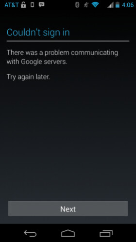 Google having syncing problems in the lead-up to the Play event