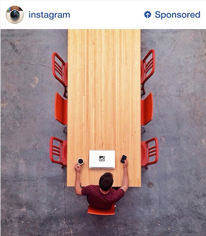 The first Instagram ad is for...Instagram