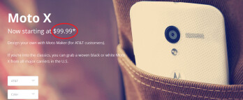 Buy a customized AT&T Motorola Moto X for just $99.99 on contract