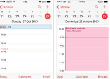The calendar app on the Apple iPhone is off by one hour