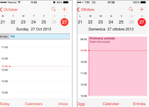 The calendar app on the Apple iPhone is off by one hour - Once again, iOS screws up Daylight Savings Time