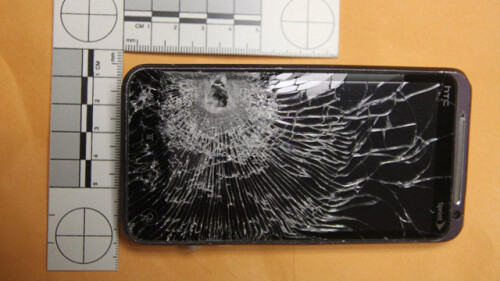 HTC EVO 3D takes a bullet, saves a life