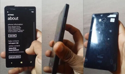 Nokia Lumia 929 for Verizon leaks out in more pictures
