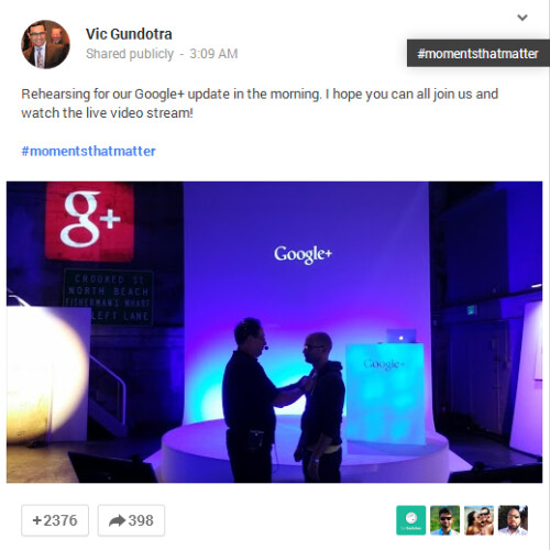 Vic Gundotra, Google SVP of Engineering, seemingly referring to the Wind Mobile ad?