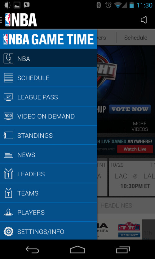 NBA Game Time app gets UI refresh in time for opening day