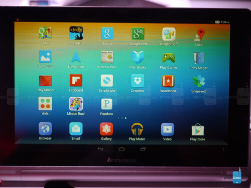 Lenovo Yoga Tablet 10-inch hands-on screen shots