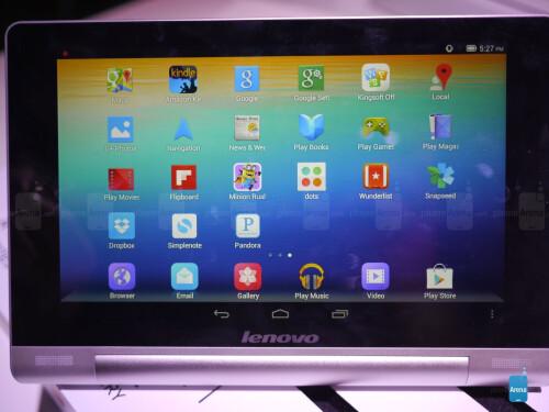 Lenovo Yoga Tablet 8-inch hands-on screen shots