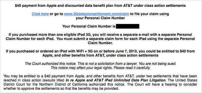 Some OG Apple iPad owners will receive $40 from Apple and a discount on a monthly data plan from AT&T - Apple to pay $40 to certain Apple iPad buyers to settle Class Action suit