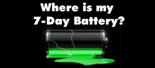 Bigger, user-replaceable battery