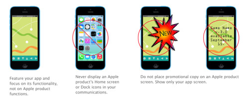 Apple asks developers not to use gold Apple iPhone 5s to promote their apps