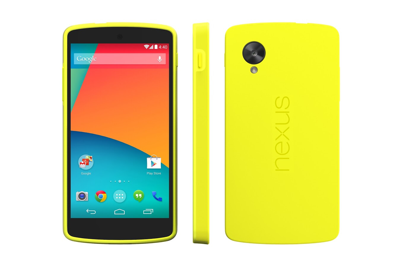 5 Nexus 5 Bumper Case Yellow