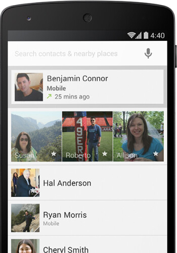 Android 4.4 new People app