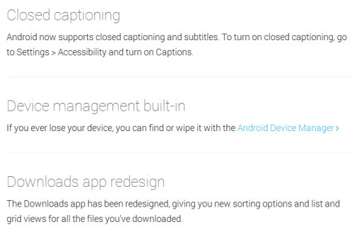 Closed captioning and device management built-in