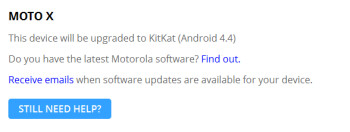 The Motorola Moto X will be getting updated to Android 4.4