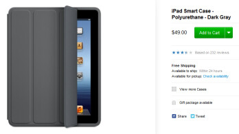 The Dark Gray Smart Case (pictured) or Smart Cover is the only covers available for owners of the older iPad models