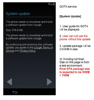 Nexus 5 requires a software update during the set-up process
