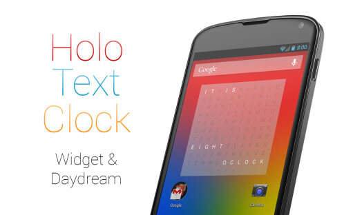 Holo Text Clock - Android - $0.99