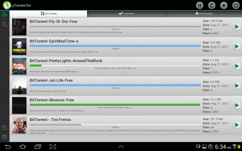 uTorrent Pro - Android - $2.95