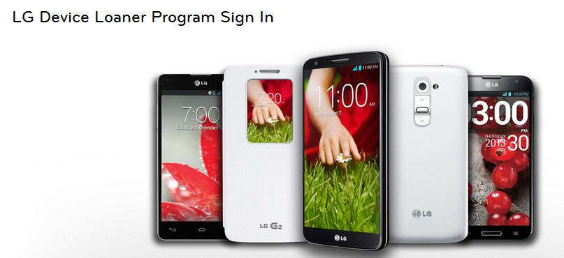 LG will loan developers an Android model for 30 days - LG Device Loaner Program starts with LG G2