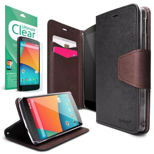 RINGKE DELIGHT Nexus 5 Flip Wallet Case ($10.99)
