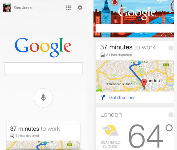 Google Search for iOS has been updated - Update to Google Now for iOS adds new cards, notifications and more
